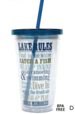 Lake Double Insulated Tumbler with Straw