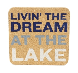 Lake Sayings Cork Coasters