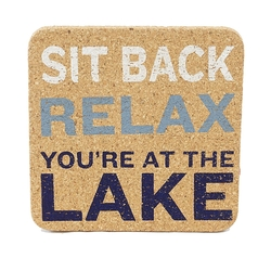 Lake Sayings Cork Coasters