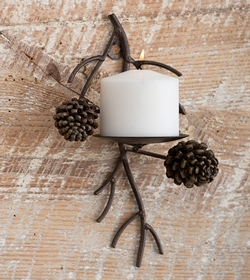 Pinecone Wall Pillar Sconce