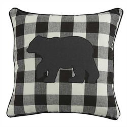 Wicklow Bear Applique Pillow