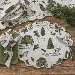 Fir Tree Placemat - Round