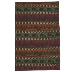 Mountain Bear Jacquard Dishtowel