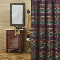 Mountain Bear Shower Curtain