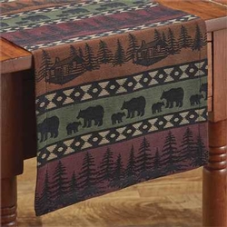 Mountai Bear Table Runner - Two Size Options