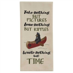 Take Nothing Embroidered Dishtowel