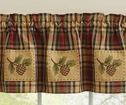 South River Lined Patch Valance