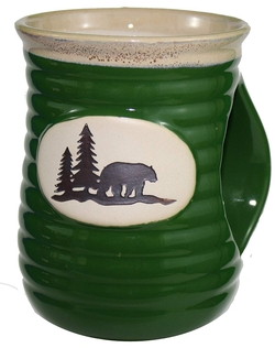 Cozy Hand Bear Stoneware Mug - Set of 4