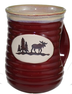 Cozy Hand Moose Stoneware Mug - Set of 4