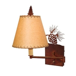 Swing Arm Pinecone Light