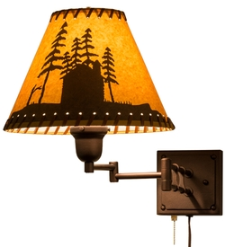 Cabin in the Woods Swing Arm Wall Sconce