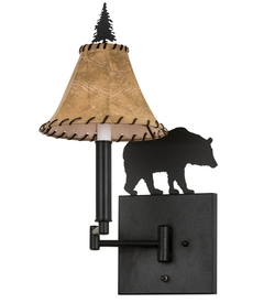 Black Bear Swing Arm Wall Sconce