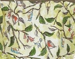 Song Bird Lined Wave Valance