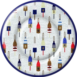 Ahoy Buoys Paper Dinner Plates - Two Packages