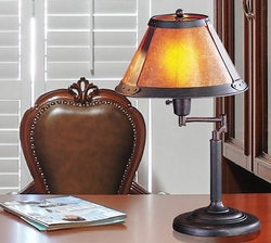Craftsman/Mission Style Swing Arm Lamp