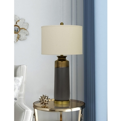 Lecce Copper Glazed Ceramic Table Lamp