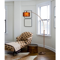 Craftsman Natural Mica Arc Floor Lamp