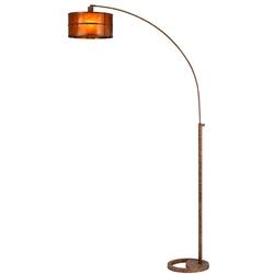 Craftsman Natural Mica Arc Floor Lamp