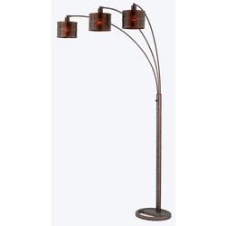 Craftsman Amber Mica Arc Lamp