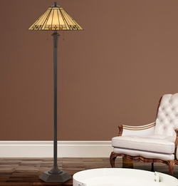 Tiffany Mission Floor Lamp
