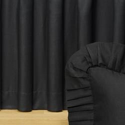 Black Night Gathered Bedskirt