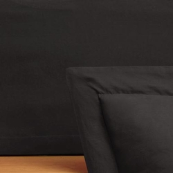 Just Black Taylored Bedskirt
