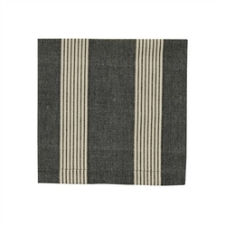 Graphite Stripe Napkin - Set of 2