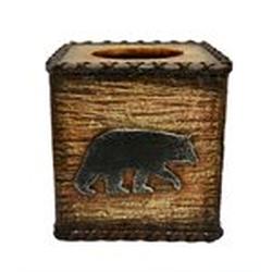 Rustic Bear Tissue Box