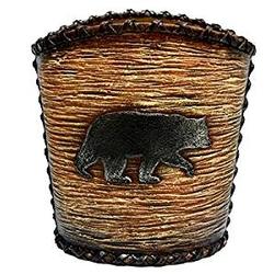 Rustic Bear Waste Basket