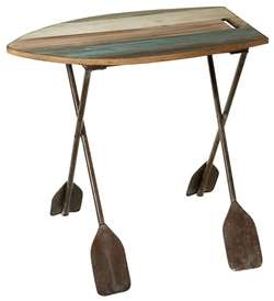 Boat Side Table with Oar Legs