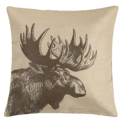 Moose Accent Pillow
