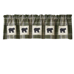 Juniper Alpine Bear Patch Valance - 60