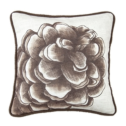 Forest Pine Water Print Pinecone Throw Pillow