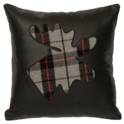 Ponderosa Leather Pillow - Moose