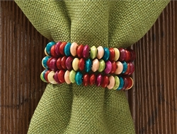 Candy Color Bead Napkin Ring