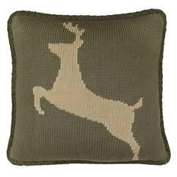 Hand Knitted Deer Pillow
