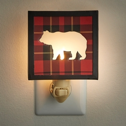 Sportman Plaid Bear Night Light