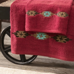 Navajo Embroidered Towel Set - Two Colors