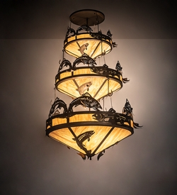 Catch of the Day Trout 3 Tier Chandelier