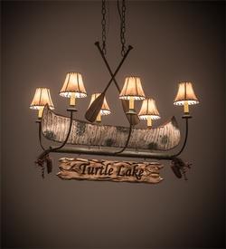 Personalized Canoe 6 Light Chandelier