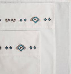 Southwest Diamond Embroidered Sheet Set