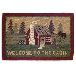 Welcome to The Cabin 2' x 3' Rug