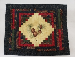 Pine Cone Log Cabin Placemat - 4 pieces