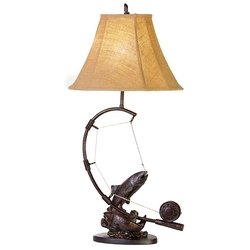 Stream Trout Table Lamp