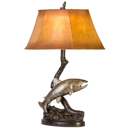 Trout Adventure Table Lamp
