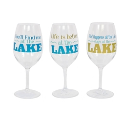 Acrylic Lake Wine Glass