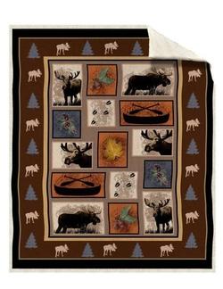 Moose Track Sherpa Throw