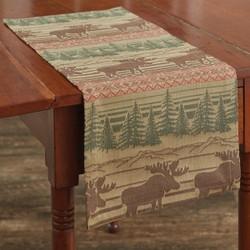 Moose Jacquard Table Runner - 2 Sizes