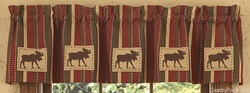 Caribou Patch Lined Valance