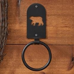 Black Bear Ring Hook